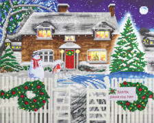 Crystal Art LED Hütte Weihnachten 40x50