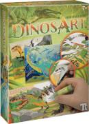 Dino Sand- und Folienkunst