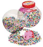 HAMA 2066 Dose Perlen u. Stiftp. Pink 15000 Stück