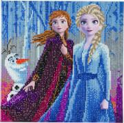 Crystal Art Disney Frozen Anna, Elsa und Olaf 30x30 cm