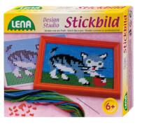 LENA Stickbild Katze