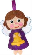 Die Spiegelburg 92501 100 % selbst gemacht - Näh-Set: 2 Weihnachts-Filzanhänger (Entzückende Engel), ab 8 Jahren, Filzanhänger