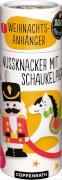 Die Spiegelburg 92502  100 % selbst gemacht - Näh-Set: 2 Weihnachts-Filzanhänger (Nussknacker, Schaukelpferd), ab 8 Jahren