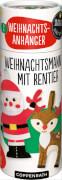 Die Spiegelburg 92503 100 % selbst gemacht - Näh-Set: 2 Weihnachts-Filzanhänger (Weihnachtsmann mit Rentier), ab 8 Jahren