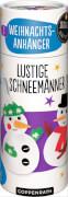 Die Spiegelburg 92504 100 % selbst gemacht - Näh-Set: 2 Weihnachts-Filzanhänger (Lustige Schneemänner), ab 8 Jahren