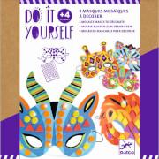 Do it yourself: Mosaik-Masken Dschungeltiere