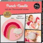 Punch-Needle Starter-Set Glitzer-Regenbogen (100% s.g.)