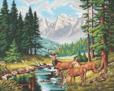 Simba Schipper Malen nach Zahlen - Friedvolle Berglandschaft 40x50 cm
