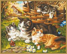 Simba Schipper Malen nach Zahlen - Katzenfamilie