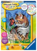 Ravensburger 28651 Malen nach Zahlen Katze mit Schmetterling