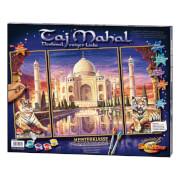 Simba Schipper Malen nach Zahlen  - Taj Mahal (Triptychon) 50 x 80 cm