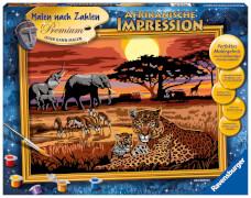 Ravensburger 28819 Malen nach Zahlen - Afrikanische Impression