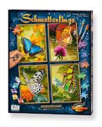 Simba Schipper Malen nach Zahlen - Schmetterlinge 4 Bilder je 18 x 24 cm