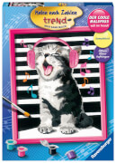Ravensburger 28431 Malen nach Zahlen - Singing Cat