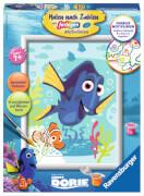 Ravensburger 28323 Malen nach Zahlen - Disney Findet Dorie - Dorie und Nemo