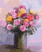 Schipper Malen nach Zahlen - Rosenstrauß in Pastellfarben