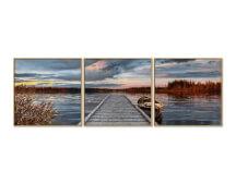 Schipper Malen nach Zahlen - Sonnenaufgang am See Triptychon