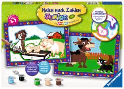 Ravensburger 27779 Malen nach Zahlen Junior Liebe Bauernhoftiere