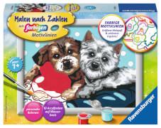 Ravensburger 27783 Malen nach Zahlen Serie E Hundefreundschaft