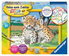 Ravensburger 28486 Malen nach Zahlen Kleine Leoparden
