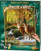 Simba Schipper Malen nach Zahlen - Hirsche im Wald 40x50 cm
