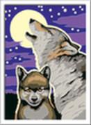 Ravensburger 28513 Malen nach Zahlen - Mystische Wölfe