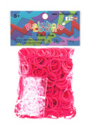 Rainbow Loom - Gummibänder pink 600 Stück