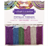LoopDeDoo Metallic Thread 6 Farben # 4 m