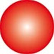 Clickhalbperle rot, #= 12 mm