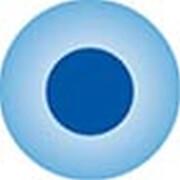 Clickhalbperle azurblau mit blauem Punkt, #= 12 mm