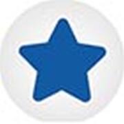 Clickhalbperle weiß mit blauen Stern, #= 12 mm