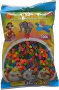 Hama® Bügelperlen Midi - Transparent Neon Mix 3000 Perlen