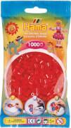 HAMA Perlen, Transparent-Rot, 1.000 Stück
