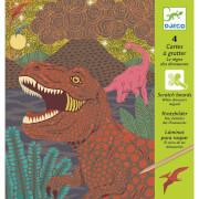 Kratzbilder: Dinosaurier