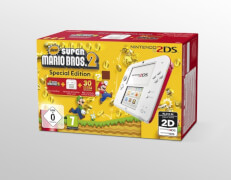 2DS HW White + New Super Mario Bros. 2