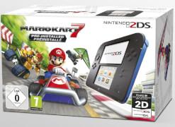 Nintendo, 2DSKonsole schwarz blauincl. Mario Kart 7