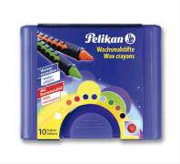 Pelikan Wachsmalstifte 10er Box Schiebehülse