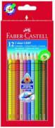 Faber-Castell Buntstift Colour Grip 12er-Kartonetui