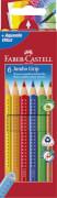 Faber-Castell Buntstift Jumbo Grip 6er-Kartonetui