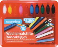 Stylex 10 wasserfeste Wachsmalstifte mit Steckfunktion