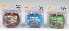 Depesche 6032 Monster Cars Radiergummi mit Zaubertrick