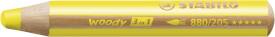 Buntstift, Wasserfarbe & Wachsmalkreide - STABILO woody 3 in 1 - Einzelstift - gelb