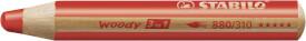 Buntstift, Wasserfarbe & Wachsmalkreide - STABILO woody 3 in 1 - Einzelstift - carminrot