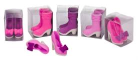 Trendhaus 934017 - Radierer Stiefel/High Heels, 2er Set, 6-fach sortiert, Radiergummi, ab 3 Jahren (nicht frei wählbar)