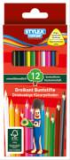 Stylex 12 lange Buntstifte aus FSC-Holz