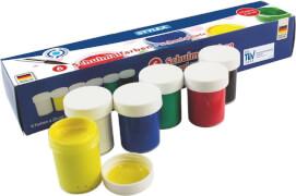 Stylex 6 Schulmalfarben # 20ml in weiß, rot, blau, gelb, grün, schwarz