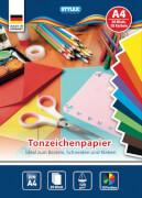 Stylex Tonzeichenpapier DIN A4 20 Blatt in 10 verschiedenen Farben