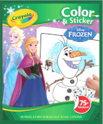 Goliath 256658 Crayola Frozen 2 - Color & Stickerbook