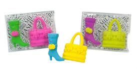 Radierer Lady Accessoires Handtasche und Stiefel, 3-fach sortiert