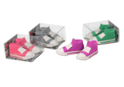 Trendhouse 938282 - Radierer Sneaker, 2er Set, 4-fach sortiert, Radiergummi, ca. 3,6x4,2x2,4 cm, ab 3 Jahren (nicht frei wählbar